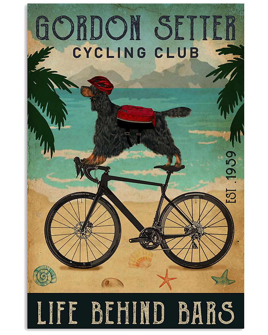 Cycling Club Gordon Setter 11x17 Poster