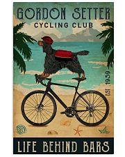 Cycling Club Gordon Setter 11x17 Poster front