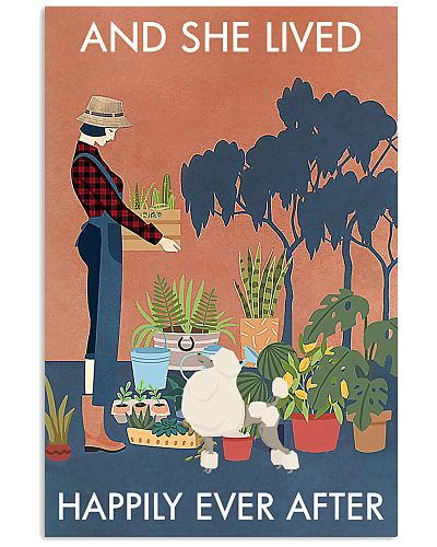 Vintage And She Lived Happily Gardening Poodle