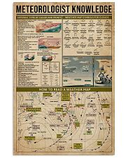 Meteorologist Knowledge 16x24 Poster front