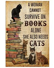 A Woman Survive On Books And Cats 11x17 Poster front