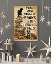 A Woman Survive On Books And Cats 11x17 Poster lifestyle-holiday-poster-1