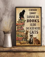 A Woman Survive On Books And Cats 11x17 Poster lifestyle-poster-3