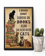 A Woman Survive On Books And Cats 11x17 Poster lifestyle-poster-8