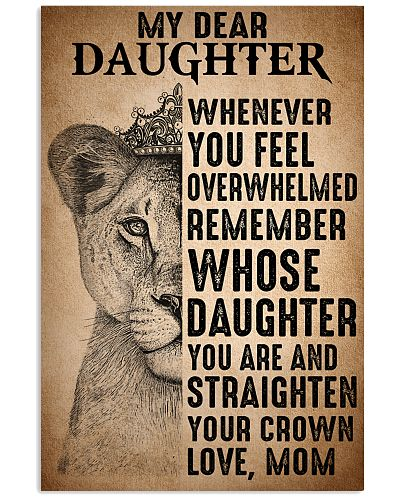 To Daughter Straighten Your Crown Lion