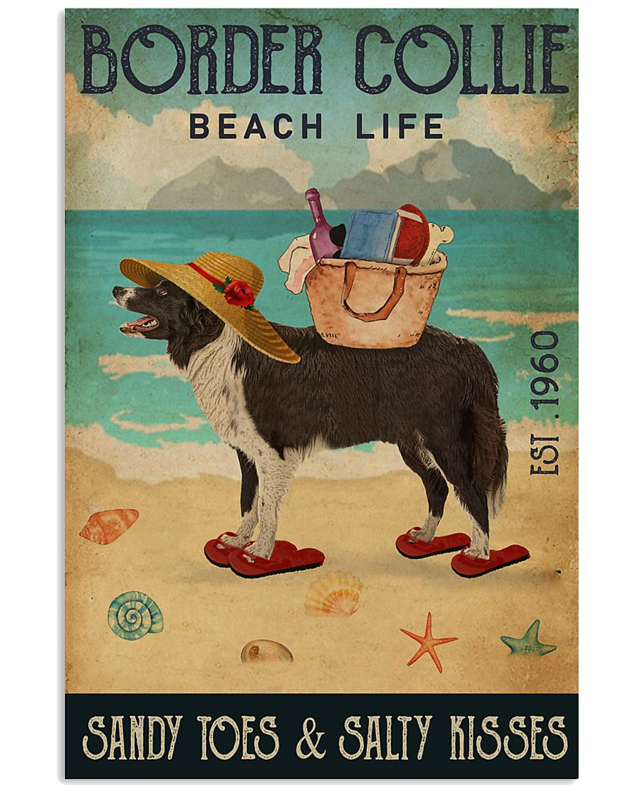 Beach Life Sandy Toes Border Collie 11x17 Poster