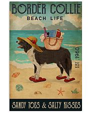 Beach Life Sandy Toes Border Collie 11x17 Poster front