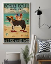 Beach Life Sandy Toes Border Collie 11x17 Poster lifestyle-poster-1