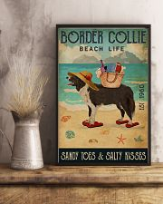 Beach Life Sandy Toes Border Collie 11x17 Poster lifestyle-poster-3