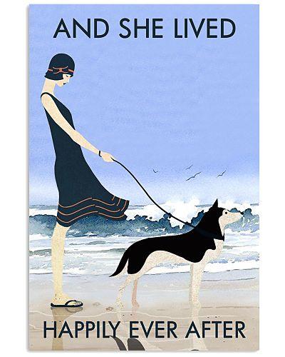 Beach And Dog Husky
