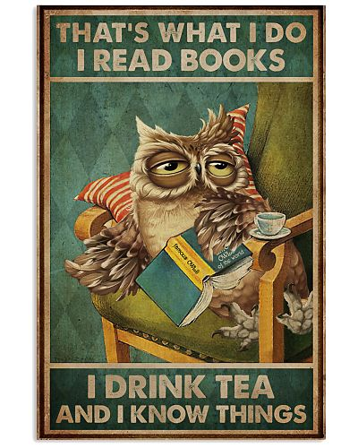 Read Books And Drink Tea Owl