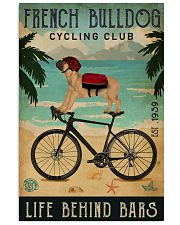 Cycling Club French Bulldog 11x17 Poster front