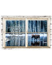 Window And Into The Forest Moose 24x16 Poster front