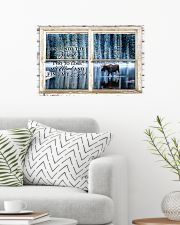 Window And Into The Forest Moose 24x16 Poster poster-landscape-24x16-lifestyle-01