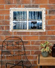 Window And Into The Forest Moose 24x16 Poster poster-landscape-24x16-lifestyle-24