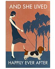Vintage Girl She Lived Happily Basset Hound 11x17 Poster front