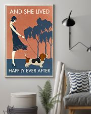 Vintage Girl She Lived Happily Basset Hound 11x17 Poster lifestyle-poster-1
