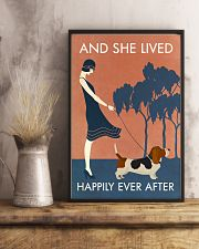 Vintage Girl She Lived Happily Basset Hound 11x17 Poster lifestyle-poster-3