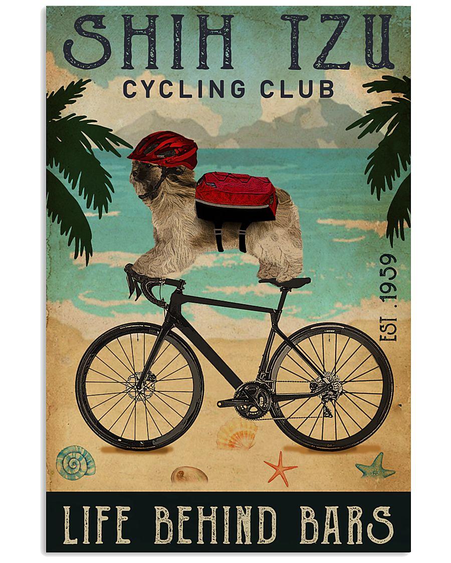 Cycling Club Shih Tzu 11x17 Poster