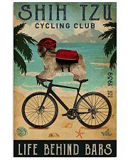 Cycling Club Shih Tzu 11x17 Poster front