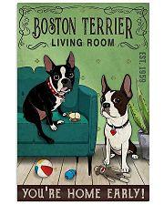 Living Room Boston Terrier 11x17 Poster front