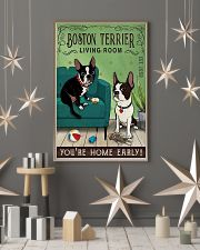 Living Room Boston Terrier 11x17 Poster lifestyle-holiday-poster-1