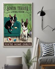Living Room Boston Terrier 11x17 Poster lifestyle-poster-1