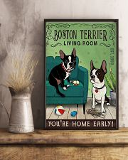 Living Room Boston Terrier 11x17 Poster lifestyle-poster-3