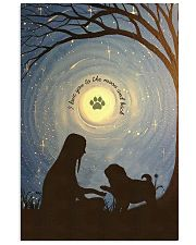 Love You To The Moon Hand Shake Pug 11x17 Poster front