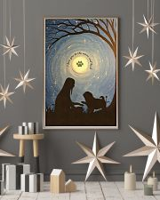 Love You To The Moon Hand Shake Pug 11x17 Poster lifestyle-holiday-poster-1