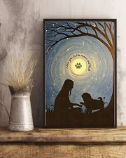 Love You To The Moon Hand Shake Pug 11x17 Poster lifestyle-poster-3