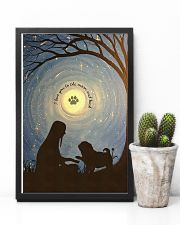 Love You To The Moon Hand Shake Pug 11x17 Poster lifestyle-poster-8