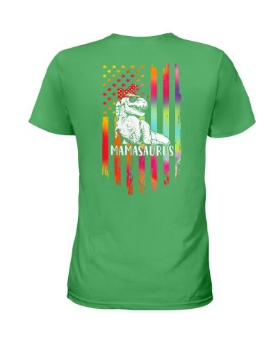 Colorful Flag Proud Mamasaurus