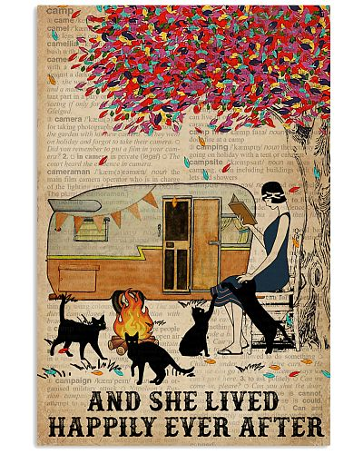 Camping Girl Lived Happily Book Cat