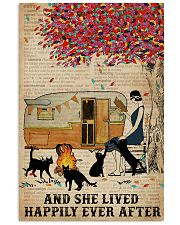 Camping Girl Lived Happily Book Cat 11x17 Poster front