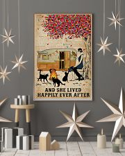 Camping Girl Lived Happily Book Cat 11x17 Poster lifestyle-holiday-poster-1