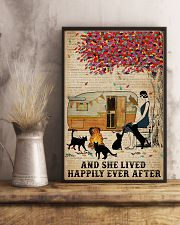 Camping Girl Lived Happily Book Cat 11x17 Poster lifestyle-poster-3
