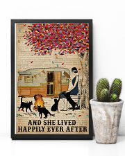 Camping Girl Lived Happily Book Cat 11x17 Poster lifestyle-poster-8