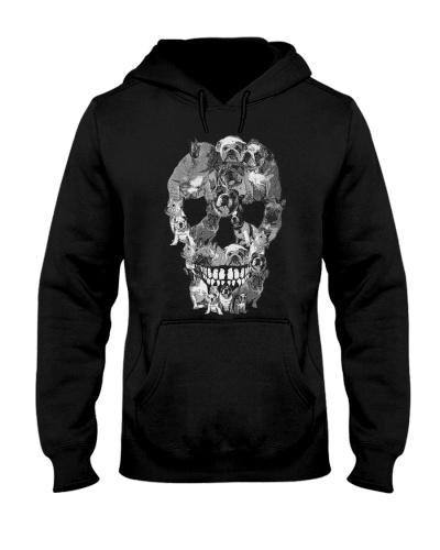 Animal French Bulldogs Skull