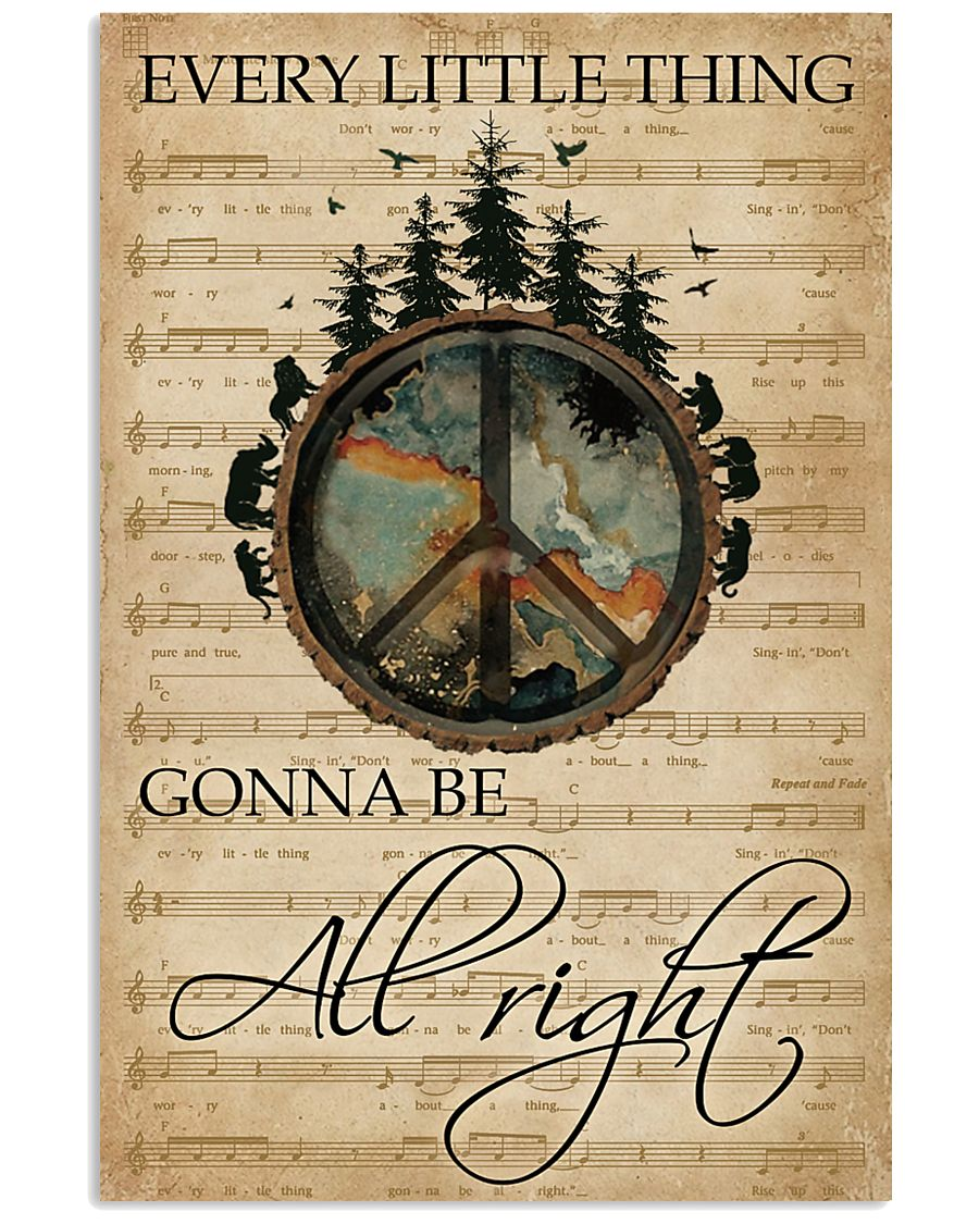 Music Sheet Every Little Thing Forest Hippie 11x17 Poster