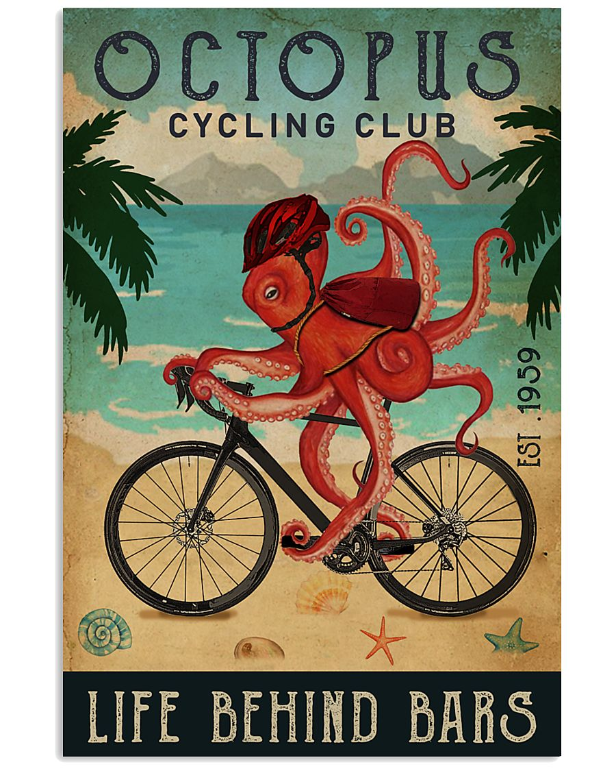 Cycling Club Octopus 11x17 Poster