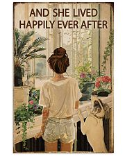 Vintage Lived Happily Garden Dogs Girl 16x24 Poster front