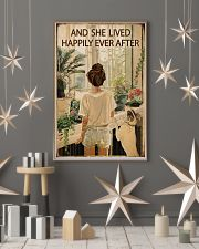 Vintage Lived Happily Garden Dogs Girl 16x24 Poster lifestyle-holiday-poster-1
