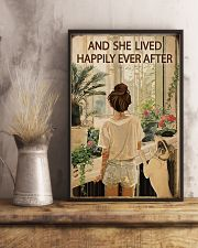 Vintage Lived Happily Garden Dogs Girl 16x24 Poster lifestyle-poster-3