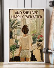 Vintage Lived Happily Garden Dogs Girl 16x24 Poster lifestyle-poster-4