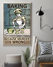 Retro Baker Baking Because Murder Is Wrong 16x24 Poster lifestyle-poster-1