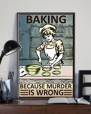 Retro Baker Baking Because Murder Is Wrong 16x24 Poster lifestyle-poster-2