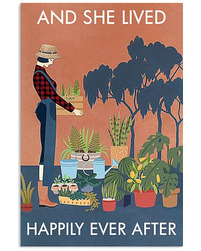Vintage And She Lived Happily Gardening