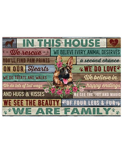 In This House We Are Family German Shepherd