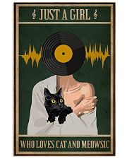 Just A Girl Music And Cat 11x17 Poster front